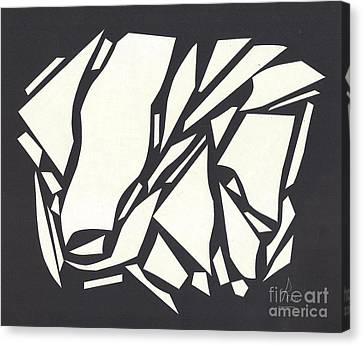 Abstract Black White Canvas Print by Eliso  Silva