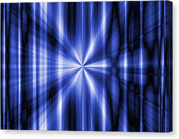 Abstract Blue Rays Background Canvas Print by Somkiet Chanumporn