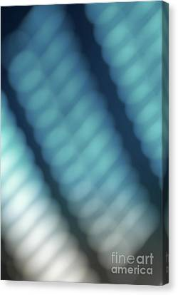 Abstract Blue Reflections Canvas Print by Amy Cicconi