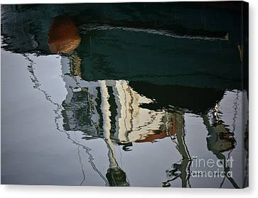Abstract Boat Reflection II Canvas Print by Dave Gordon