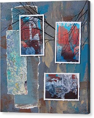 Abstract Branch Collage Trio Canvas Print by Anita Burgermeister