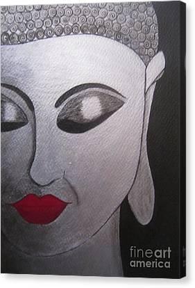 Abstract Buddha Canvas Print by Priyanka Rastogi
