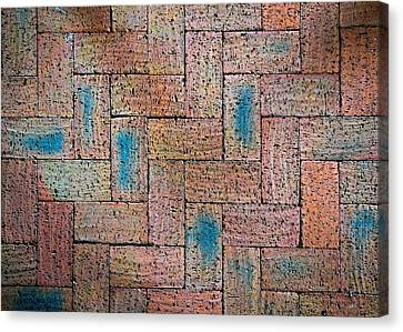 Abstract Burnt Bricks Canvas Print by Jozef Jankola