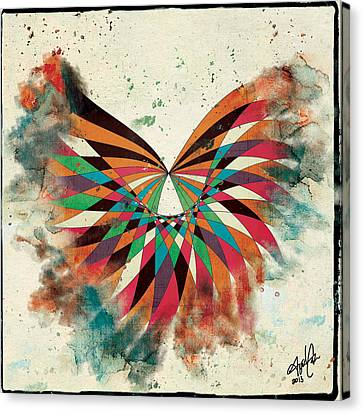 Abstract Butterfly Canvas Print by April Gann