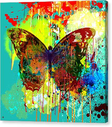Abstract Butterfly Canvas Print by Gary Grayson
