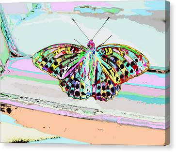 Summer Light Canvas Print - Abstract Butterfly by Marianna Mills