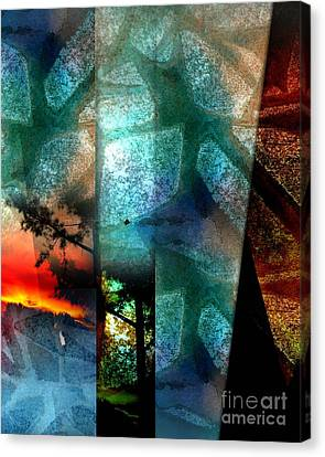 Canvas Print featuring the digital art Abstract Calling by Allison Ashton