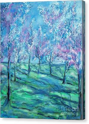 Abstract Cherry Trees Canvas Print by Eric  Schiabor