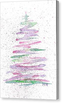Abstract Christmas Tree Canvas Print