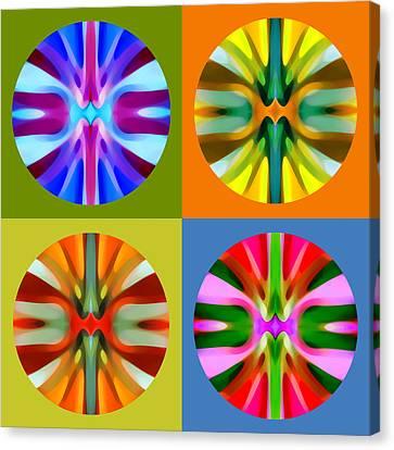 Abstract Circles And Squares 1 Canvas Print by Amy Vangsgard