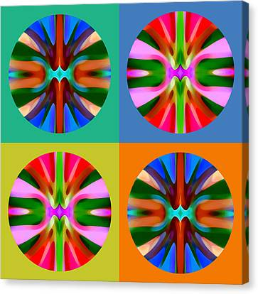 Abstract Circles And Squares 4 Canvas Print by Amy Vangsgard