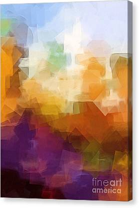 Abstract Cityscape Cubic Canvas Print by Lutz Baar