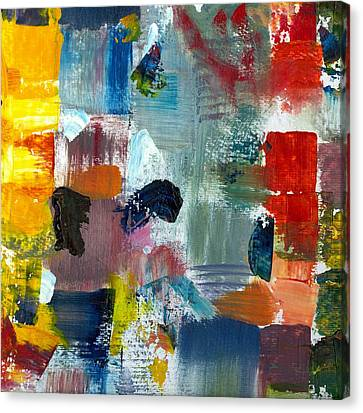 Abstract Color Relationships Lv Canvas Print by Michelle Calkins