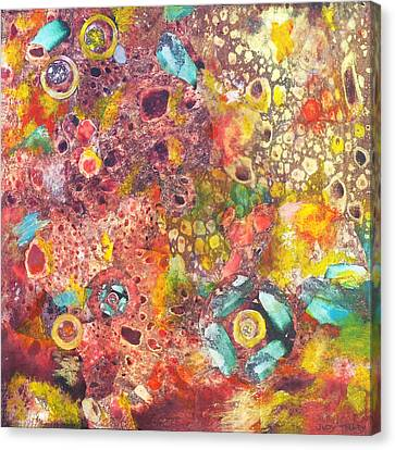 Ephemera Canvas Print - Abstract Colorama by Judy Tolley