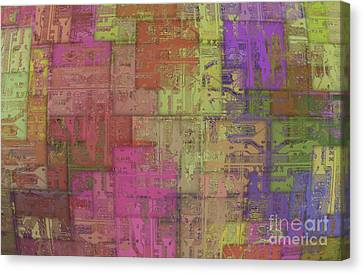 Abstract Printed Circuit Canvas Print by Michal Boubin