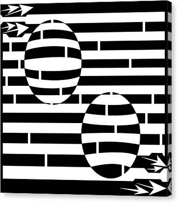 Abstract Concave Convex Maze  Canvas Print by Yonatan Frimer Maze Artist