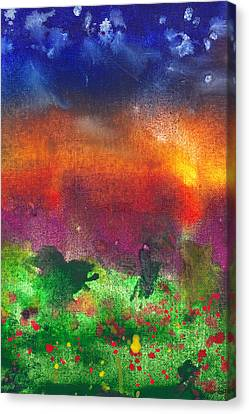 Abstract - Crayon - Utopia Canvas Print by Mike Savad