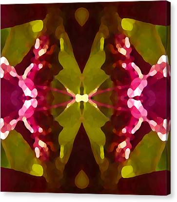 Abstract Crystal Butterfly Canvas Print by Amy Vangsgard