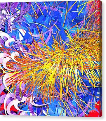 Abstract Curvy 23 Canvas Print
