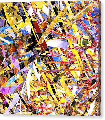 Abstract Curvy 33 Canvas Print