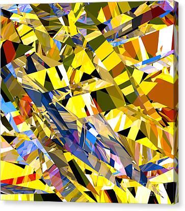 Abstract Curvy 34 Canvas Print