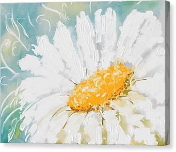 Abstract Daisy Canvas Print by Veronica Minozzi
