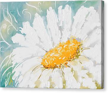 Abstract Daisy Canvas Print