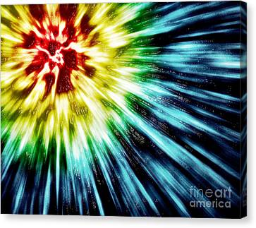 Undefined Canvas Print - Abstract Dark Tie Dye by Phil Perkins