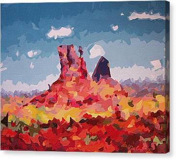 Southern Utah Canvas Print - Abstract Desert 1 by Kim Cyprian