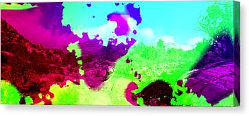 Abstract Desert Scene Canvas Print by Alan and Marcia Socolik