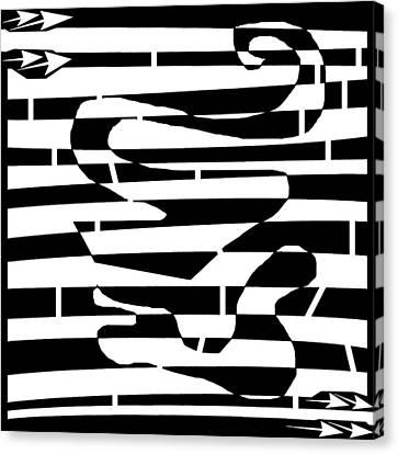 Abstract Distortion Amoeba Blobs Canvas Print by Yonatan Frimer Maze Artist