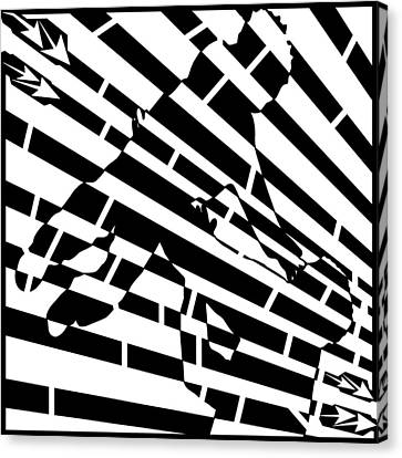 Abstract Distortion Childhood Joy Maze Canvas Print by Yonatan Frimer Maze Artist