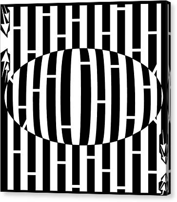 Abstract Distortion Egg Disturbance Maze Canvas Print by Yonatan Frimer Maze Artist
