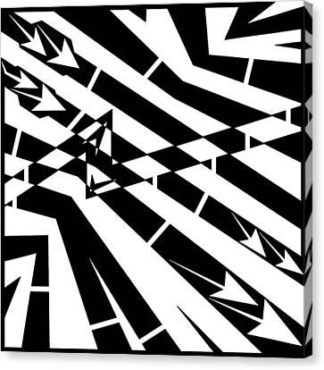 Abstract Distortion Fuel Line Maze Canvas Print by Yonatan Frimer Maze Artist