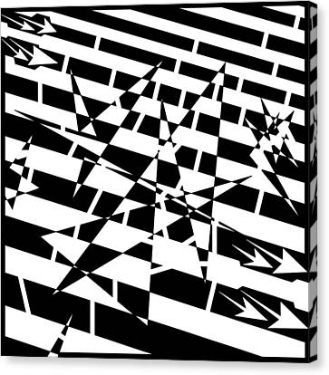 Abstract Distortion Of Weakly Interactive Massive Particles Maze  Canvas Print by Yonatan Frimer Maze Artist