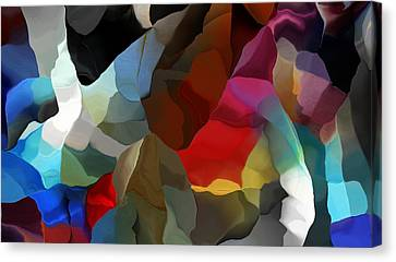 Canvas Print featuring the digital art Abstract Distraction by David Lane