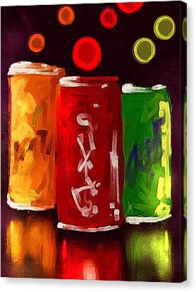 Abstract Drinks Canvas Print by Veronica Minozzi