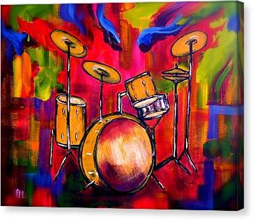 Abstract Drums II Canvas Print by Pete Maier
