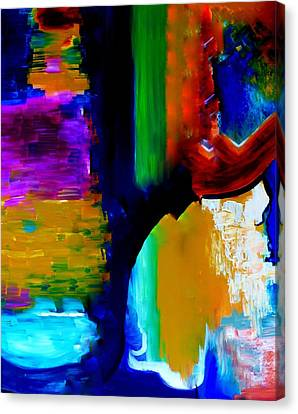 Canvas Print featuring the painting Abstract Du Colour by Lisa Kaiser