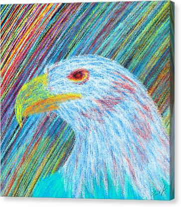 Abstract Eagle With Red Eye Canvas Print by Kenal Louis