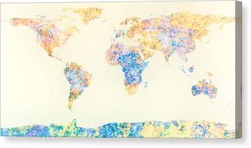 Abstract Earth Map 2 Canvas Print by Bob Orsillo