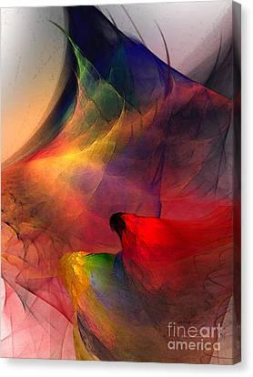 Contemplative Canvas Print - Abstract Exotic Birds by Karin Kuhlmann