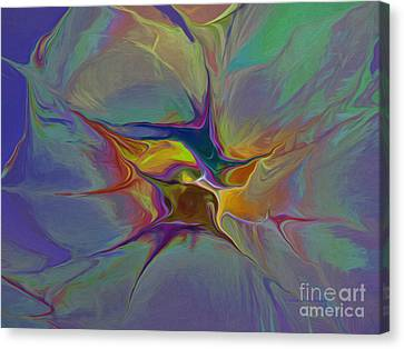Abstract Explosion Canvas Print by Deborah Benoit