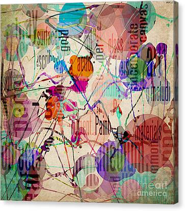 Canvas Print featuring the digital art Abstract Expressionism by Phil Perkins