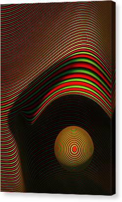 Forms Canvas Print - Abstract Eye by Johan Swanepoel