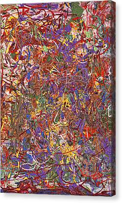 Abstract - Fabric Paint - String Theory Canvas Print