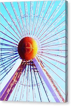 Seaside Heights Canvas Print - Abstract Ferris Wheel by Eric  Schiabor