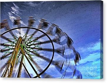 Abstract Ferris Wheel Canvas Print