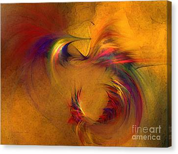 Contemplative Canvas Print - Abstract Fine Art Print High Spirits by Karin Kuhlmann