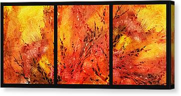 Rich Canvas Print - Abstract Fireplace by Irina Sztukowski
